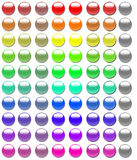 80 Glass Buttons Stock Images