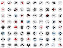 80 insignias y elementos del vector Foto de archivo