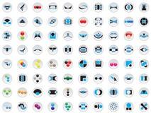 80 insignias y elementos del vector Fotos de archivo