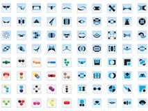 80 insignias y elementos del vector Imágenes de archivo libres de regalías