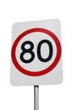 80 KILOMETER Lizenzfreies Stockbild