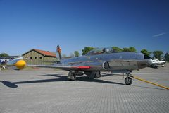 80 Lockheed t33 f obraz stock