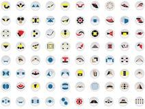 80 logotipos e elementos do vetor Fotos de Stock Royalty Free
