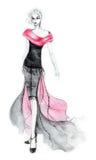 80 mod ilustraci s styl Obrazy Royalty Free