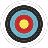 80 obiettivo di tiro all'arco di disegno di cm FITA Fotografie Stock Libere da Diritti