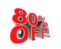 80% off! Stock Image