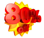 80 percent price off discount Royalty Free Stock Image