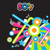 80's Party background. With thematic colors royalty free illustration
