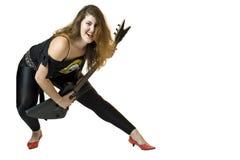 80's Rocker Chick Stock Photo