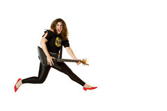80's Rocker Chick Stock Image