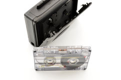 80´s and Walkman cassette tape Royalty Free Stock Photos