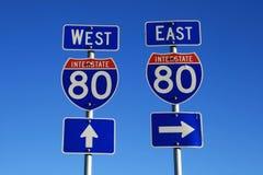 80 segnali stradali da uno stato all'altro Fotografia Stock