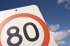 80 Speed Sign Stock Photography