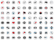 80 vector logos and elements. Vector illustrations of 80 logos and elements Stock Photo