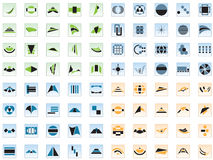 80 vector logos and elements Stock Photography