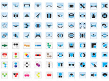 80 vector logos and elements. Vector illustrations of 80 logos and elements Royalty Free Stock Images