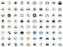 80 vectoremblemen en elementen Royalty-vrije Stock Afbeelding