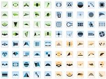 80 vektorzeichen und -elemente stock abbildung