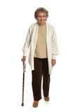 80 Year Old Woman Isolated on White Royalty Free Stock Photo