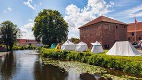 800 år för slottdenmark nyborg Arkivbilder