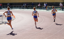 800 dziewczyn metrów rasa Zdjęcia Royalty Free