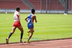 800 mètres des hommes pour les personnes handicapées Photos libres de droits