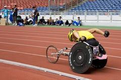 800 mężczyzna metrów biegowy s wózek inwalidzki Zdjęcia Royalty Free