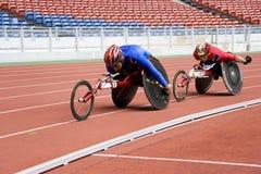 800 manräkneverk race s-rullstolen Arkivfoton