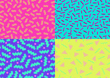 80s 90s Abstract Backgrounds Royalty Free Stock Images