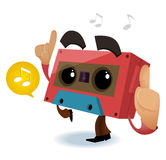 80s Retro music party. Vector illustration Royalty Free Stock Photo