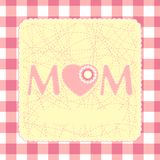 80s Style Mothers Day Card. EPS 8 Stock Images