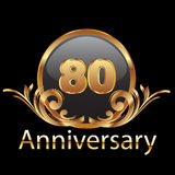 80th anniversary gold Royalty Free Stock Photo