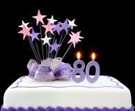 80th cake Arkivbild