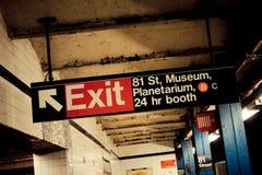 81.o, estación de metro, Manhattan, NY Foto de archivo libre de regalías