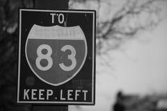 A 83 de un estado a otro Imagen de archivo