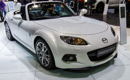 83. Genf Motorshow 2013 - Mazda MX5 Lizenzfreie Stockfotos