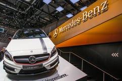 83. Genf Motorshow 2013 - Mercedes-Benz A45 AMG Stockbilder