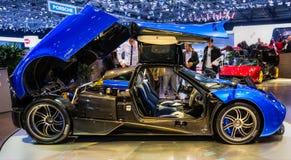 83. Genf Motorshow 2013 - Pagani Huayra Lizenzfreie Stockbilder