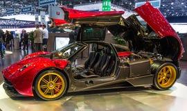 83. Genf Motorshow 2013 - Pagani Huayra Stockfotografie