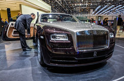 83. Genf Motorshow 2013 - Rolls RoyceWraith Stockbild