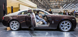 83. Genf Motorshow 2013 - Rolls RoyceWraith Lizenzfreie Stockbilder