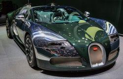 83.o Ginebra Motorshow 2013 - Bugatti Veyron Foto de archivo libre de regalías