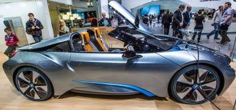 83.o Ginebra Motorshow 2013 - coche del concepto de BMW i8 Foto de archivo libre de regalías