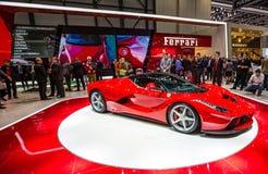 83.o Ginebra Motorshow 2013 - La Ferrari de Ferrari Fotos de archivo libres de regalías