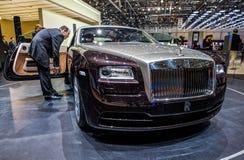 83.o Ginebra Motorshow 2013 - Wraith de Rolls Royce Imagen de archivo