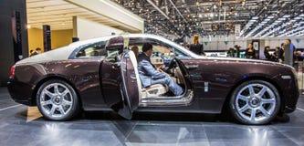 83.o Ginebra Motorshow 2013 - Wraith de Rolls Royce Imágenes de archivo libres de regalías