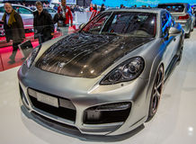 83rd Genebra Motorshow 2013 - Techart ajustou carros Fotografia de Stock