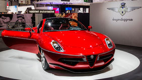 83rd Genebra Motorshow 2013 - visitando o disco Volante de Superleggera Imagem de Stock Royalty Free