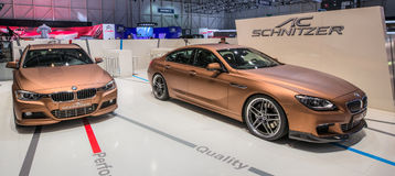 83rd Geneva Motorshow 2013 - AC Schnitzer BMW Royaltyfria Bilder