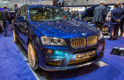 83rd Geneva Motorshow 2013 - BMW Alpina Arkivbild